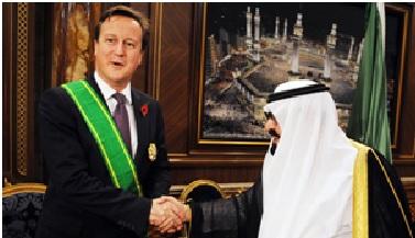 British PM David Cameron with Saudis