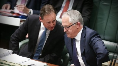 Australian Environment Minister Greg Hunt and Prime Ministerial coup leader Malcolm Turnbull