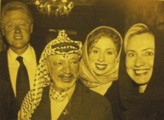 "Clintons happy family pic with PLO leader ""Yes he had a fat"""
