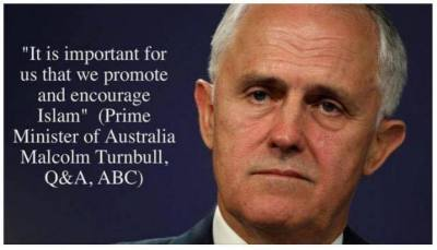 Australian Prime Minister Malcolm Turnbull once Chairman of Goldman Sachs, we need to respect Islam.