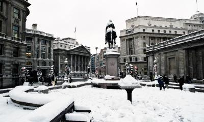 Snow in London