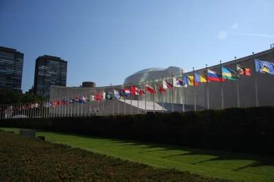 Flags of Nations UN General Assembly