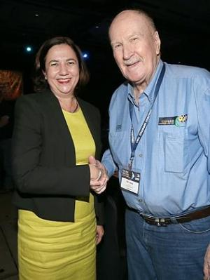 AWU's Annastacia Palazczuk and Bill Ludwick