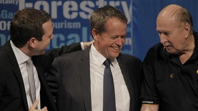 AWU's Paul Howes, Bill Shorten and Bill Ludwig
