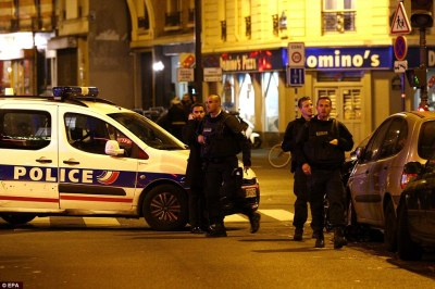 Paris Police Attend Suspected terror attacks