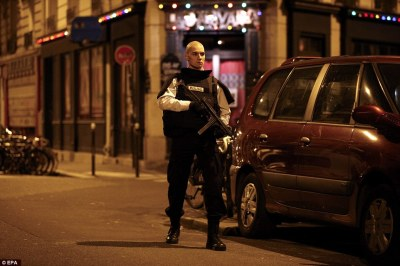 Paris Police at scene of shooting