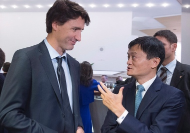 trudeau-and-jack-ma-in-davos